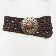 LB-360BN_belt_Handmade_leather_women_s_belt_wester_tribal_southwest_hip_belt_wide_belt