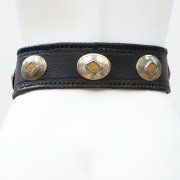 LB-383BK_belt_Handmade_leather_women's belt_wester_tribal_southwest_hip belt_wide belt