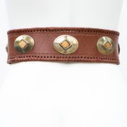 LB-383BN_belt_Handmade_leather_women's belt_wester_tribal_southwest_hip belt_wide belt