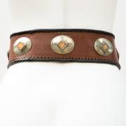 LB-383TT_belt_Handmade_leather_women's belt_wester_tribal_southwest_hip belt_wide belt