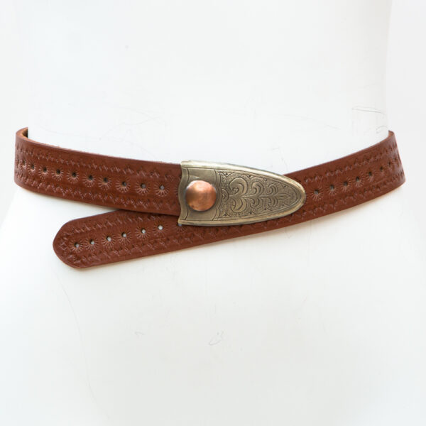 LB-394BN_belt_Handmade_leather_women's belt_western_tribal_southwest_hip belt