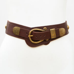 LB-399BN_belt_Handmade_leather_women's belt_wester_tribal_southwest_hip belt_wide belt_concho belt