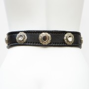 LB-400BK_belt_Handmade_leather_women's belt_wester_tribal_southwest_hip belt_wide belt_concho belt