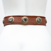 LB-400BN_belt_Handmade_leather_women's belt_wester_tribal_southwest_hip belt_wide belt_concho belt