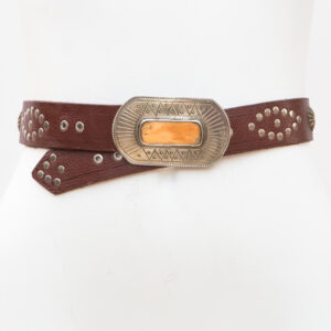 LB-401_belt_Handmade_leather_women's belt_wester_tribal_southwest_hip belt_concho belt
