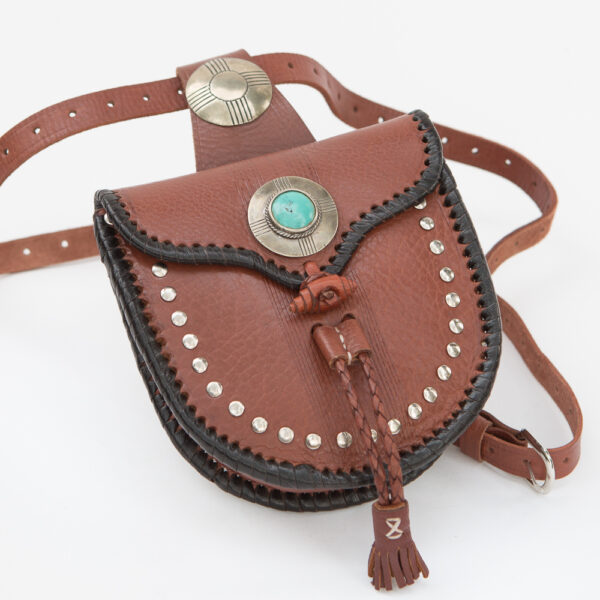 SK-012TT-T_handmade_leather_handbag_purse_western_tribal_southwestern_brown_small_concho_crossbody_turquoise