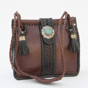 SK-127TT-T_handmade_leather_handbag_purse_western_tribal_southwestern_brown_medium_small_concho_turquoise_