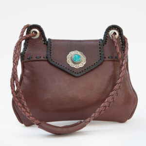 SK-179TT-T_handmade_leather_handbag_purse_western_tribal_southwestern_brown_small_concho_turquoise_