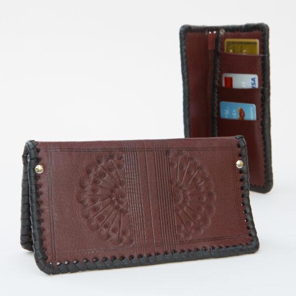 SK-182TT_handmade_leather_wallet_western_tribal_southwestern_two-tone_