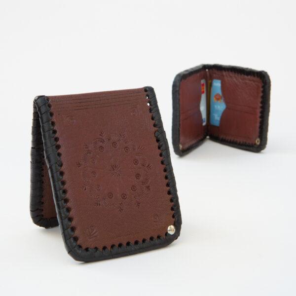 sk-188tt_handmade_leather_wallet_western_tribal_southwestern_two-tone