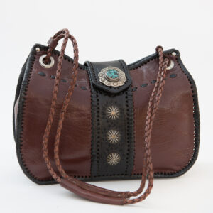 SK-198TT-T_handmade_leather_handbag_purse_western_tribal_southwestern_brown_medium_concho_turquoise_