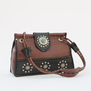 SK-211TT-T_handmade_leather_handbag_purse_western_tribal_southwestern_brown_medium_concho_turquoise_