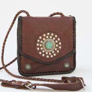 SK-230TT-T_handmade_leather_handbag_purse_western_tribal_southwestern_brpwn_small_concho_turquoise_crossbody_