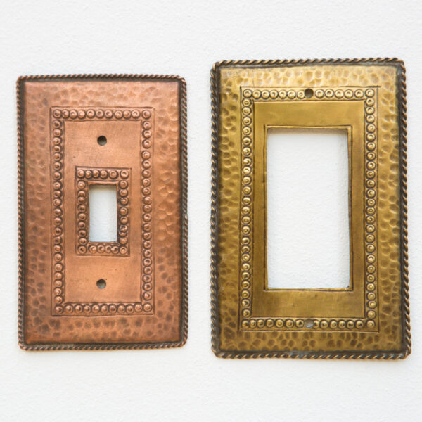 Motif B_Metal lightswitch cover_switchplate_wall plate_handmade_rocker_decora_western_southwestern