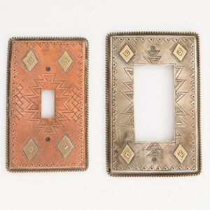 Motif G_Metal lightswitch cover_switchplate_wall plate_handmade_rocker_decora_western_southwestern