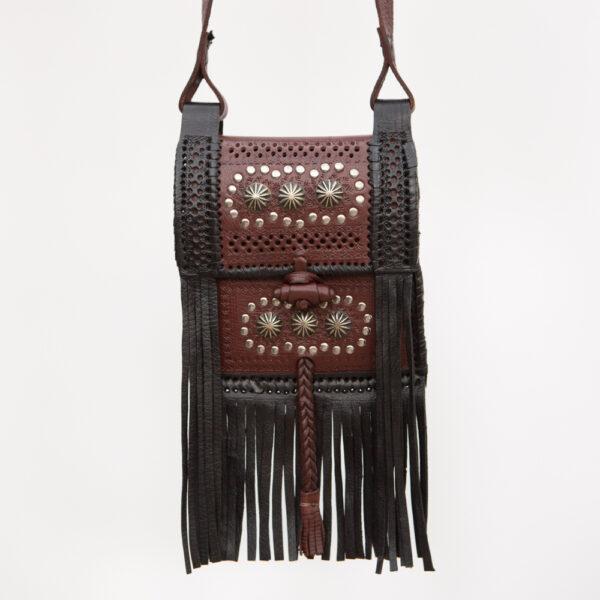 sk-069tt_handmade_leather_handbag_purse_western_tribal_southwestern_concho_brown_crossbody_small_fringe_