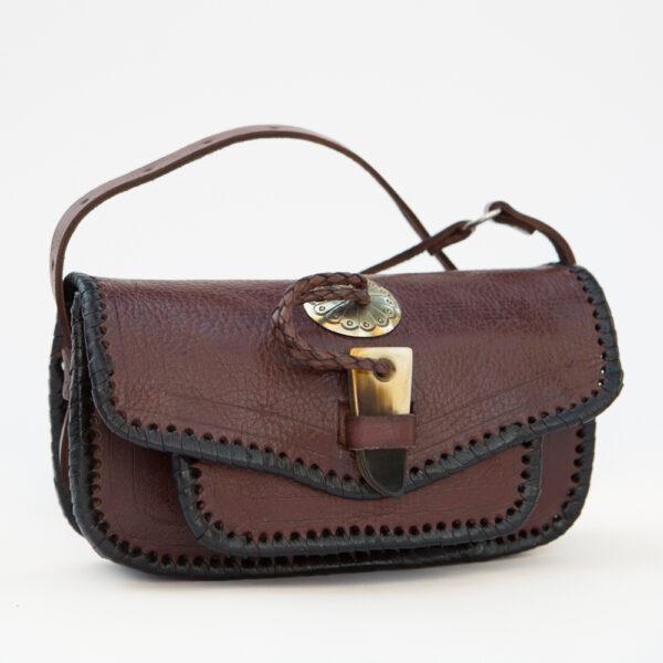 sk-112tt_handmade_leather_handbag_purse_western_tribal_southwestern_brown_small_concho_crossbody_
