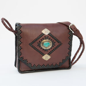 sk-137tt-t_handmade_leather_handbag_purse_western_tribal_southwestern_brown_medium_concho_turquoise_