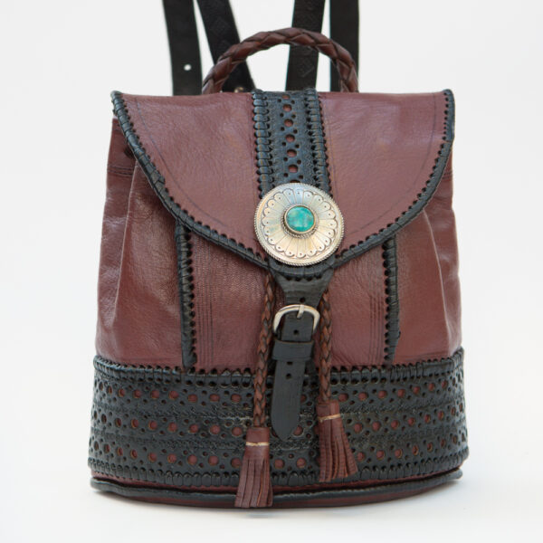 sk-181tt-t_handmade_leather_handbag_purse_western_tribal_southwestern_brown_large_concho_backpack_turquoise_