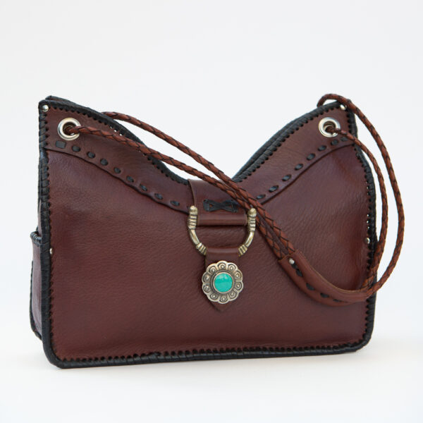 sk-203tt-t_handmade_leather_handbag_purse_western_tribal_southwestern_brown_medium_concho_turquoise_