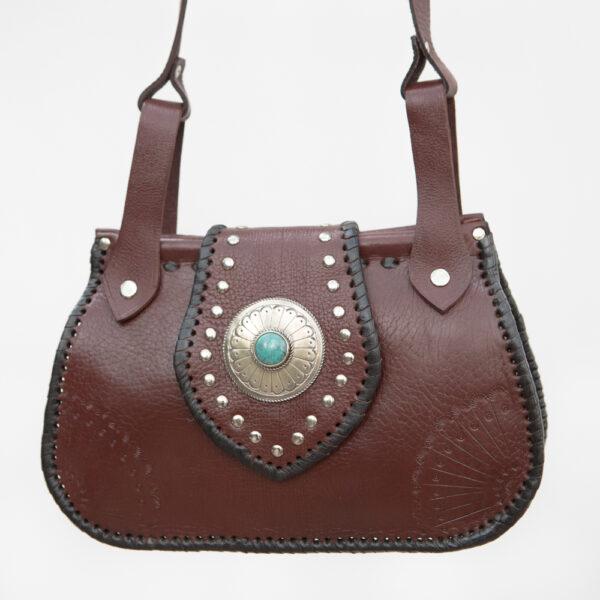 sk-260tt-t_handmade_leather_handbag_purse_western_tribal_southwestern_brown_medium_crossbody_concho_turquoise